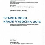 Stavba Kraje Vysočina Náměstí Počátky  - Stavba roku 2015